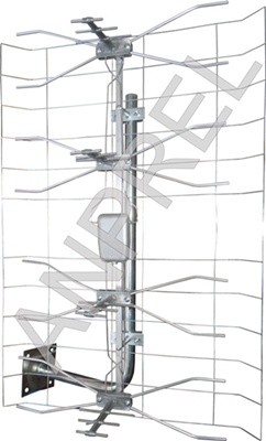 Antena TV kpl. 3dx SILVER (A1003)