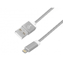 Kabel USB A - iPhone 1m SREBRNY (AK15004)