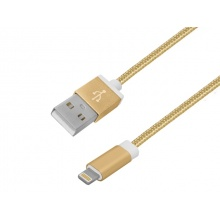 Kabel USB A - iPhone 1m  ZŁOTY (AK15006)