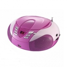 Radio z odtwarzaczem MP3 SCD-37 USB LENCO, pink (AV3010)